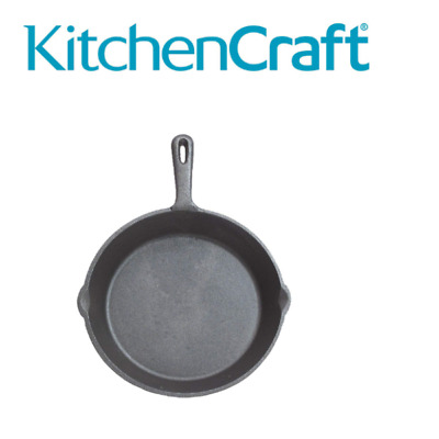 Flat Frying Pan Cast Iron Griddle 24 Cm Induction Pan Non Stick Oven Safe