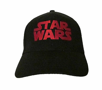 sports shoes 1e1d0 3c49f Star Wars Movie Logo in RED Embroidered Adult Baseball Hat Celebration Last  Jedi