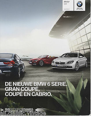 BMW - 6 Serie Gran Coupe/Coupe/Cabrio prospekt/brochure/folder Dutch 2015