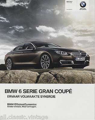 BMW - 6 Serie Gran Coupe prospekt/brochure/folder Dutch 2012