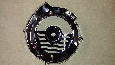 Vespa V90 50N Early Small Type Polished Stainless Flywheel Cover