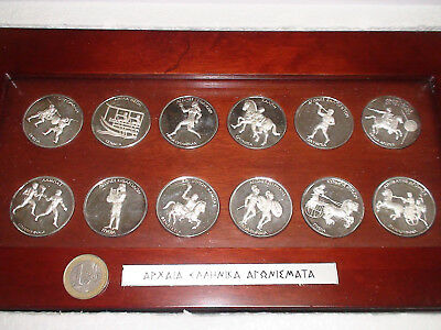 Greek Greece VTG Ancient Olympic Game Silver Coin Athens 2004 COLLECTΙΟΝ invest