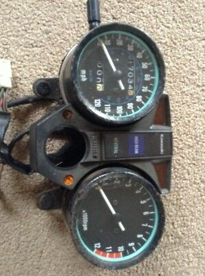 Kawasaki Z250 KZ 250 Speedo Clocks  Showing 17034 Miles
