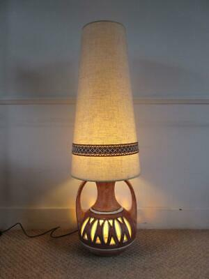 Stunning Huge Vintage Retro 60'S/ 70'S Twin Bulb West German? Lamp + Shade