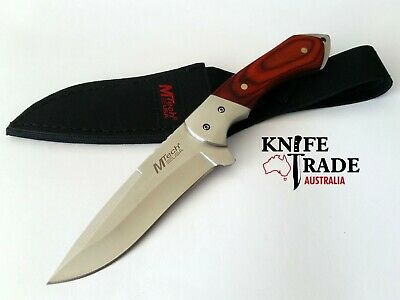 MTech USA Fixed Blade Knife MT-080 440 Stainless Blade Pakkawood Handle Hunting