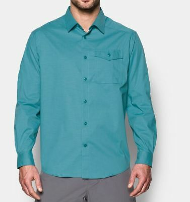 c20af381 $75 UNDER ARMOUR Mens M Backwater Fishing Short Sleeve Button Shirt ...