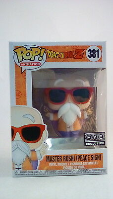 Funko POP! Animation Master Roshi (Peace Sign) #381 ~FYE Exclusive~Dragon ball Z