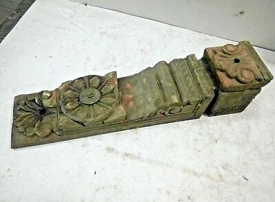 1800's ANTIQUE RARE BEAUTIFUL HAND CARVED  WOODEN DOOR PANEL