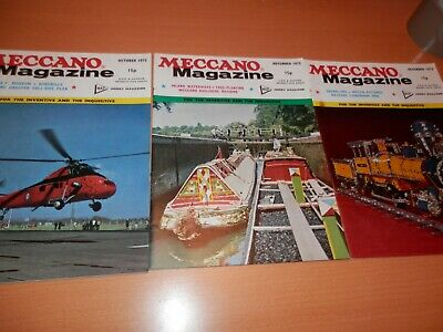 Meccano Magazine 1972 Complete Year 12 Issues