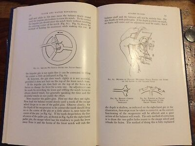 1st Edition - Clock & Watch Repairing ( Including Complicated Watches) - 1959 HB