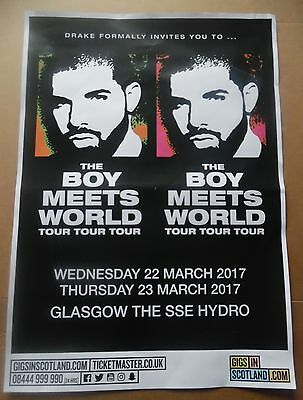 Drake - live music band show march 2017 promotional tour concert gig poster