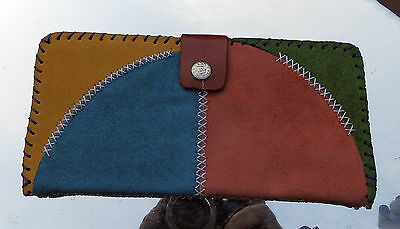 Hand Made Real Suede Large Ladies Purse - Arts & Crafts
