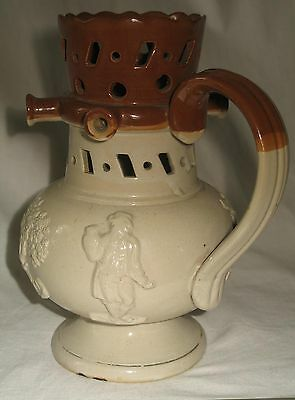 An attractive 19th century Victorian Stoneware Staffordshire / Denby Puzzle Jug