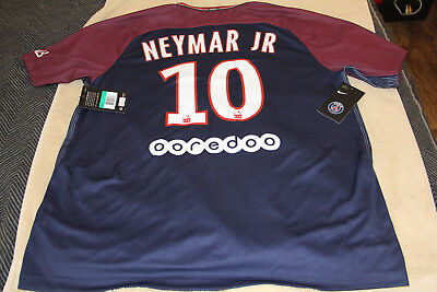 premium selection 7e2f4 d1f0b PSG JERSEY 2017/2018 Home Nike Mens XL Neymar Jr Paris St. Germain NWT