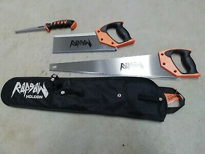 Holdon Triple wood saw Rapsaw set & Holster  Rrp £55 Fast Despatch New