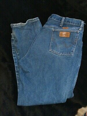 2b3de528 Flame Fire Resistant Men's Work Pants Wrangler Size 40 x 30 FR Jeans Fire #1