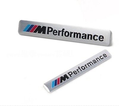 2 X Stemma BMW M Performance 3D 85x12mm. adesivo in metallo Logo Emblema Badge