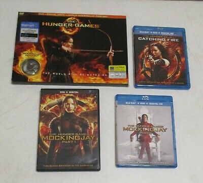 The Hunger Games ~ Complete 4 Movie Collection ~ DVD & Blu-Ray Lot