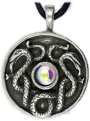 Celtic Irish Pendant Necklace Nathair Knot Wisdom Snake Spring Silver Adjustable
