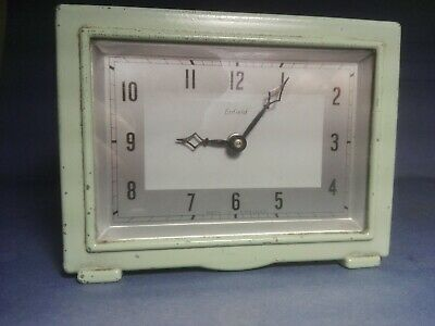 RARE Early Art Deco Enfield Desk/Mantel Clock c1929 Cast Metal Case NOT SMITHS