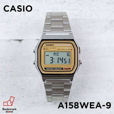 New CASIO Standard Digital Watch Silver/Gold A-158WEA-9JF Men's From JPN