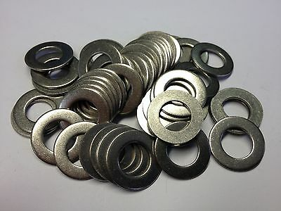 """Qty 50 3/8"""" Stainless Steel Grade A2 Flat Washers For Unf Unc Bsw Bsf"""