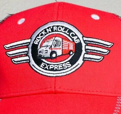 Snap-On Rock N' Roll Cab Express Red Black White Hat