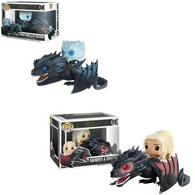 Funko POP Game of thrones mother of dragons and Night King Riding Dragon