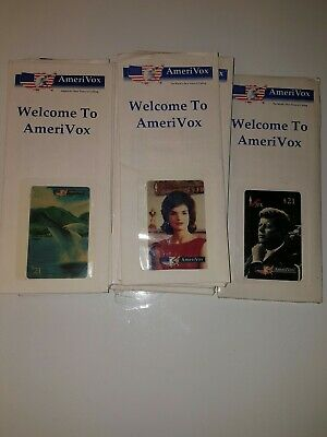 Lot Of AmeriVox Phone Cards Jacqueline Kennedy JFK 1994