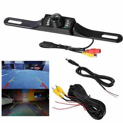 Waterproof HD Wide Angle License Plate Car Rear View Back Up Camera Night Vision