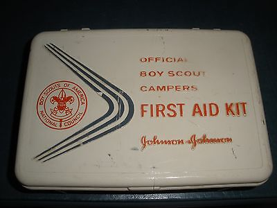 Vintage Official Boy Scout First Campers Aid Kit case