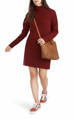550149d23fc NWT Madewell Skyscraper Sweater Dress Heather Burgundy Size XXS XX-SMALL