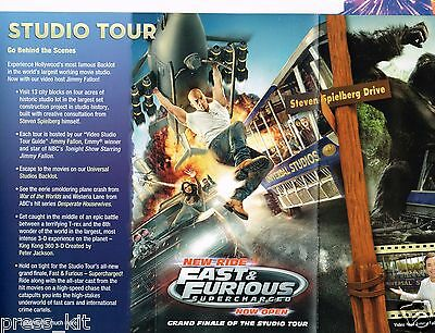 Fast & Furious Movie Ride Universal Studios Hollywood Park Guide Attraction NEW