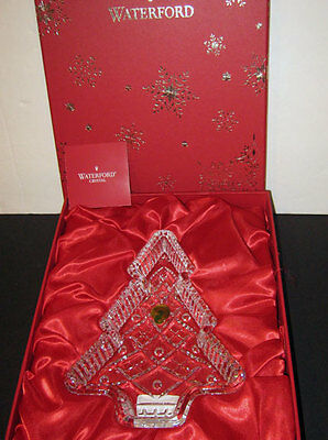 Waterford  Crystal CHRISTMAS TREE TRAY  (Cookie, Candy ) - NEW  - Box