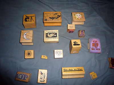 Vintage Large 1960s Rubber Hippie Themed Stamp Set from Estate - Cool Stuff!!!!