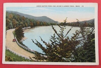 Linen postcard from Jacob/'s Ladder Trail Westfield River The Berkshires Mass
