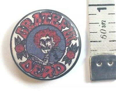 Vintage Grateful Dead Skeleton with Roses Pin / Button