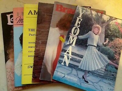 Bk39 Brother Silver Reed Knitting Machine Manuals Books Patterns Designs X 7