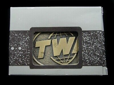 SA11152 *NOS* VINTAGE 1970s **TWA (TRANS WORLD AIRLINES)** BELT BUCKLE