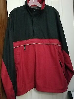 Ashworth Weather System Mens Large Pullover Wind/Water Resistant Breathable