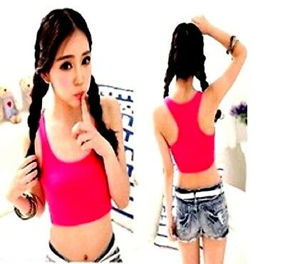 Buy2) Items) Womens Sexy Sleeveless Scoop Neck Tank Top Crop+Open Lace Thongs M
