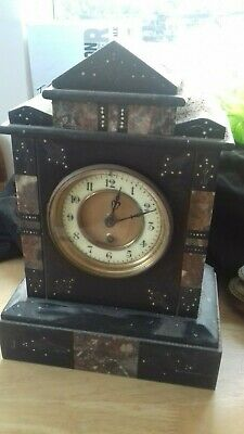 Slate mantel clock Antique clock lot 1