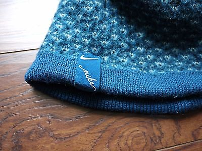 2f07cb3929e Nike beanie hat blue green white knit two sided