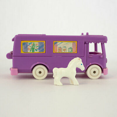 Polly Pocket Vintage RV 1994 Pony on the Go Horse Trailer Stable Van