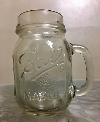 Ball Mason Clear Mug Standard Pint Dated Range 1960