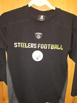 5e856c67 NFL PITTSBURGH STEELERS Team Apparel Youth XL 18 XL Black T-Shirt ...