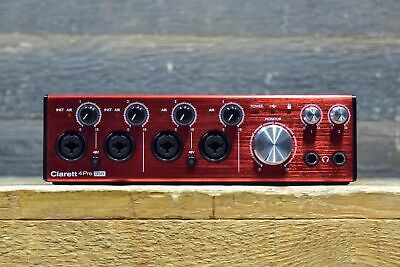 Focusrite Clarett 4 Pre USB 18-In / 8-Out USB Audio Interface for PC and MAC
