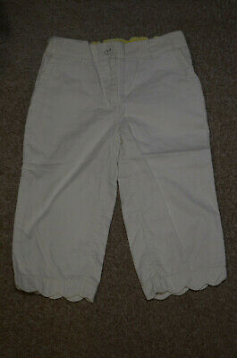 Autograph Girls Summer White 3/4 Trousers With Adjustable Waist Age 4-5 Years