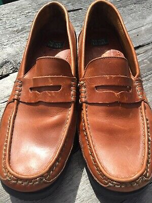 478d518f862e Nunn Bush mens size 13M penny loafer leather slip on brown oxford dress  shoes