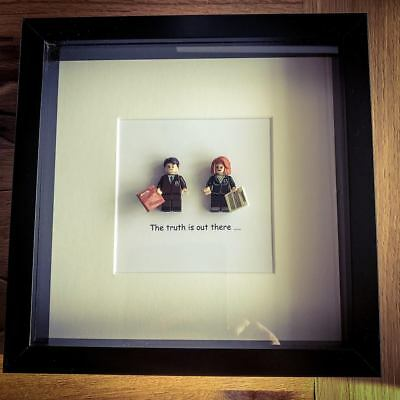 X Files Mulder and Scully Mini Figure Quote Picture